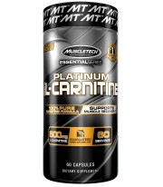 Platinum 100% carnitina de Muscletech 180 caps
