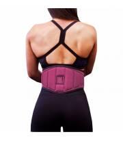 Faja Cinturon Anatómico para Pesas Rosa XS de Neosports