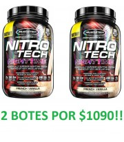 2 Botes Nitro Tech Nigh Time de Muscletech