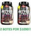 2 Botes Nitro Tech Nigh Time de Muscletech