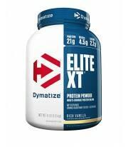 ELITE XT de DYMATIZE proteina de absorción sostenida 12 horas ca