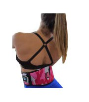 Faja Cinturon Anatómico para Pesas Camo Rosa S de Neosports