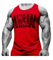Playera Roja sin Mangas Animal Pak S