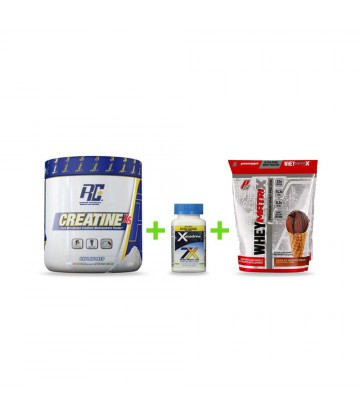 Combo volumen y definición Creatina + Xenadrine + Proteína Whey Matrix Pro Supps