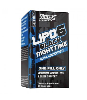 Lipo 6 Black Night Time 30 Caps de Nutrex