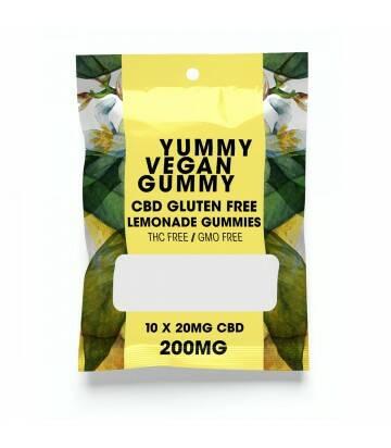 Gomitas de CBD Veganas Yummy Gummy Limon 200 MG