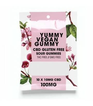 Gomitas de CBD Veganas Yummy Gummy Sour 100 MG