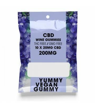 Gomitas de CBD Veganas Yummy Gummy Wine 200 MG