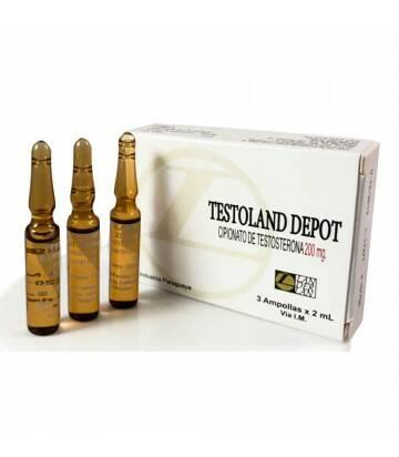 Testoland Depot Cipionato 3 ampoyetas de 200mg/2ml c/u Landerlan