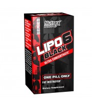 Lipo 6 Black Ultra Concentrate 60 Black Caps Quemadores de Grasa